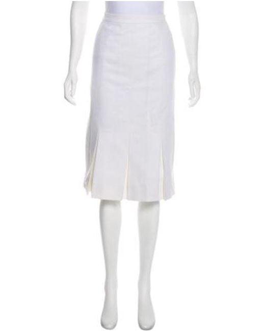 84e36e6414 Chanel - White Vintage Pleated Skirt - Lyst ...
