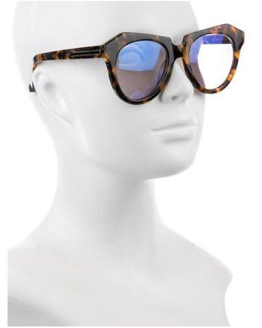 99d50c042091 ... Karen Walker - Natural Number One Tinted Sunglasses Brown - Lyst