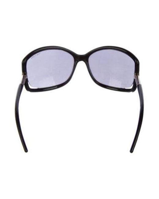 a1eea5191f8a ... Tom Ford - Metallic Tinted Acetate Sunglasses Black - Lyst ...