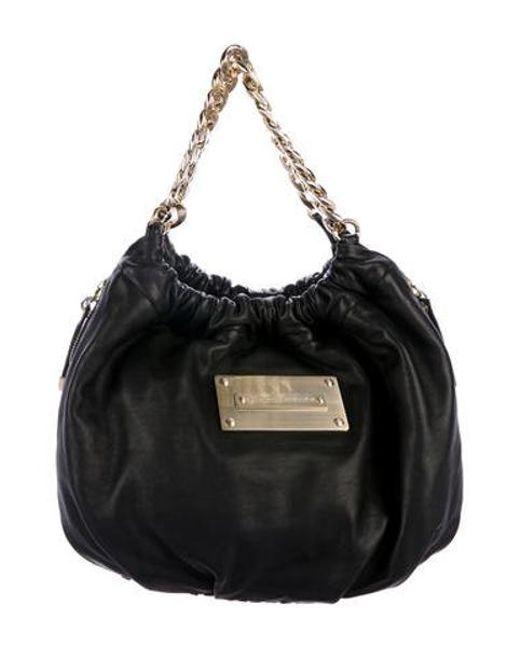 148a6203c0d5 Thomas Wylde - Metallic Nappa Leather Hobo Black - Lyst ...