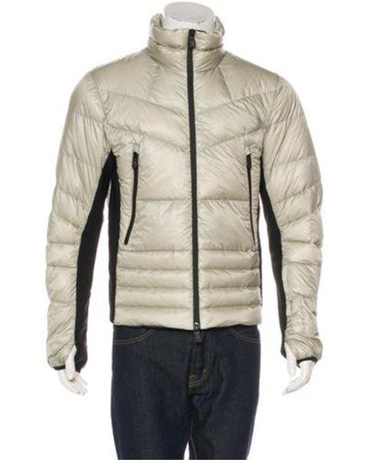 5859b39e74ae ... new zealand moncler grenoble metallic canmore down jacket silver for men  lyst 23ab8 01667