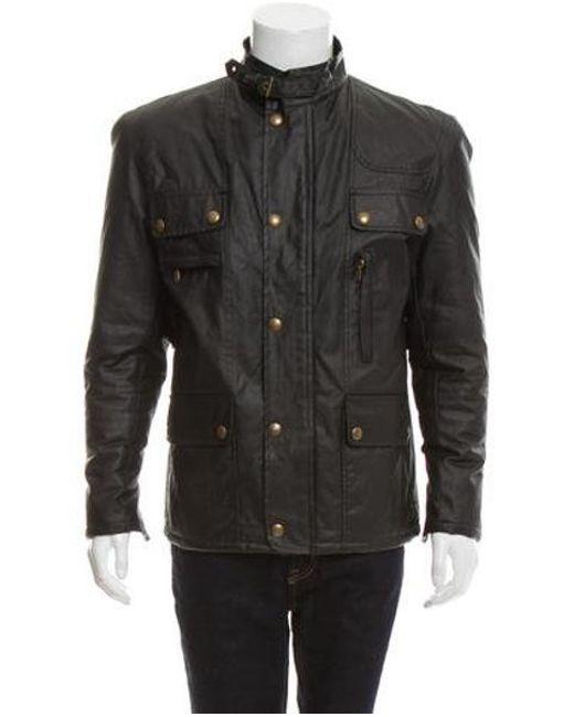 37b952f3fdf0 Belstaff - Natural Coated Utility Jacket Olive for Men - Lyst ...