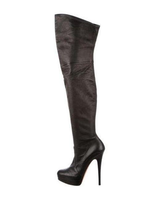 d5cdbcdc8f1 Casadei - Black Platform Thigh-high Boots - Lyst ...