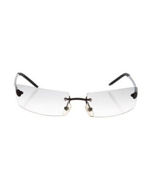 d15b552cb51 Chanel - Black Cc Rimless Sunglasses - Lyst ...