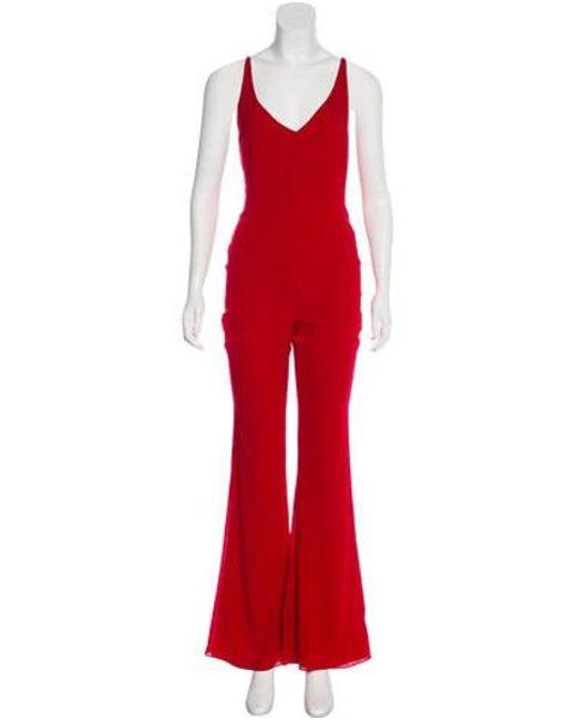 32fb602ad49 Haney - Red Gloria Silk Jumpsuit - Lyst ...