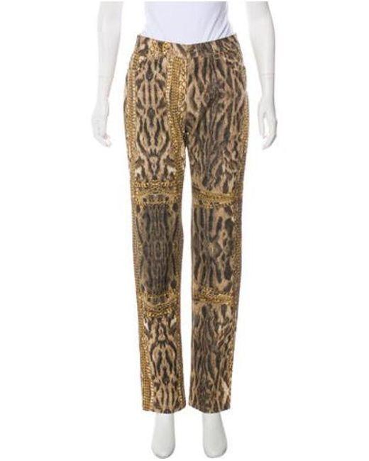 32937802e0 Roberto Cavalli - Multicolor Animal Print Mid-rise Jeans - Lyst ...