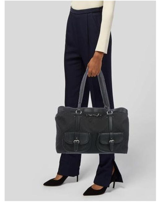 68be87c9576 ... Dior - Metallic Diorissimo Shoulder Bag Black - Lyst ...