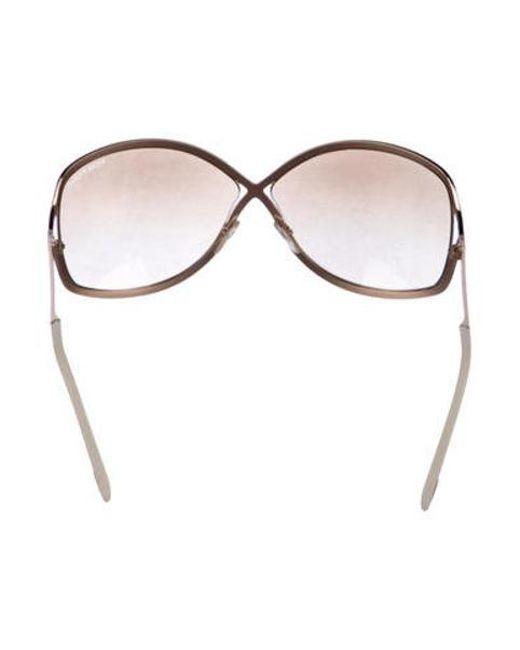 b93fed98228e8 ... Tom Ford - Metallic Rickie Gradient Sunglasses Gold - Lyst ...