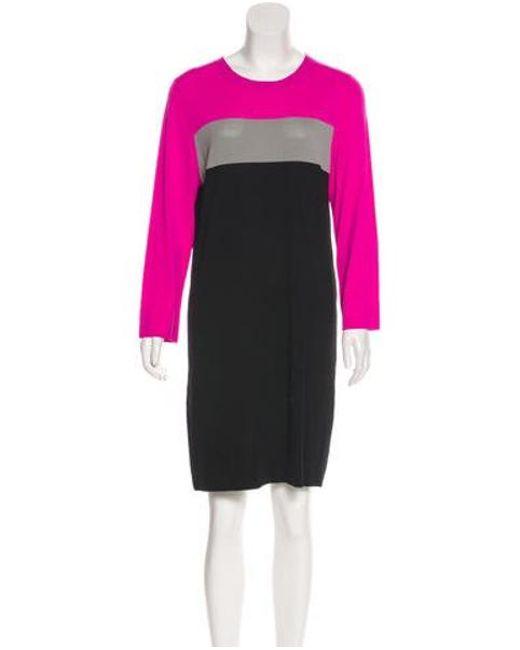 5b339fd15d3 Diane von Furstenberg - Gray Colorblock Shift Dress Pink - Lyst ...