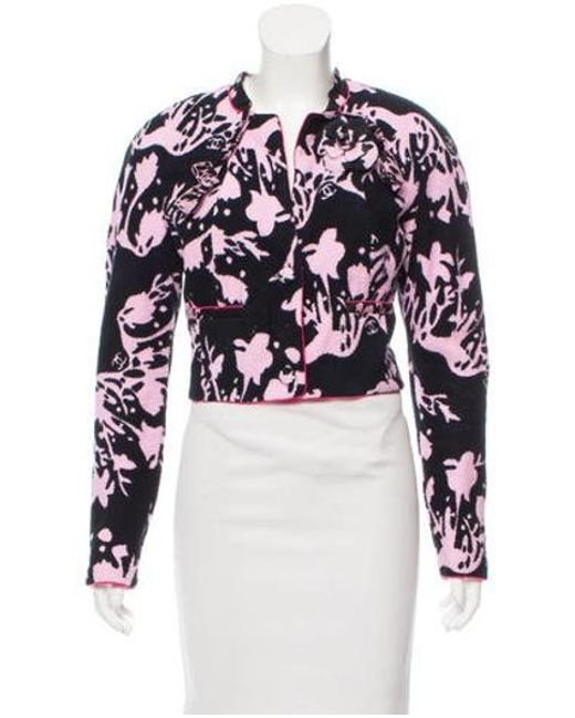 Chanel - Pink Printed Terry Cloth Jacket - Lyst