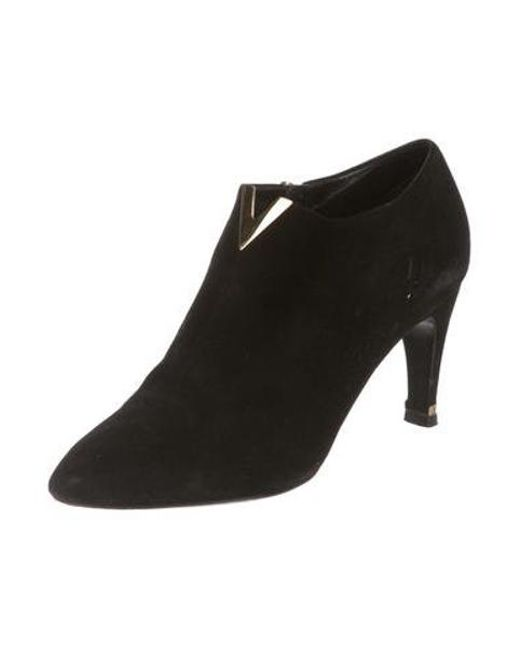 116673323090 ... Louis Vuitton - Metallic Suede Ankle Booties Black - Lyst ...
