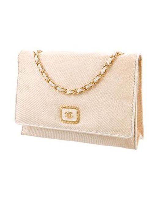 ... Chanel - Metallic Vintage Raffia Flap Bag Gold - Lyst ... b59175eaaa149