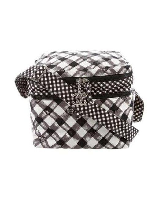 0be822b0568a Chanel - Metallic Cc Canvas Cooler Bag Black - Lyst ...
