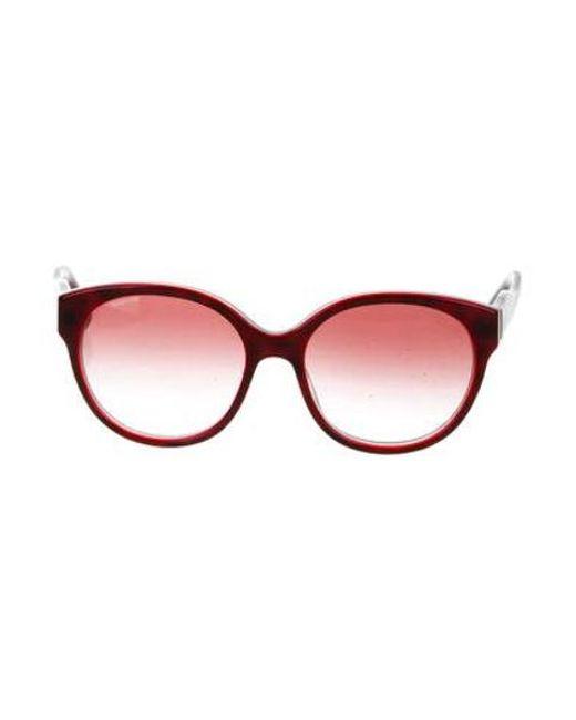 89de7c0e086 Miu Miu - Red Miu Oversize Tinted Sunglasses Burgundy - Lyst ...