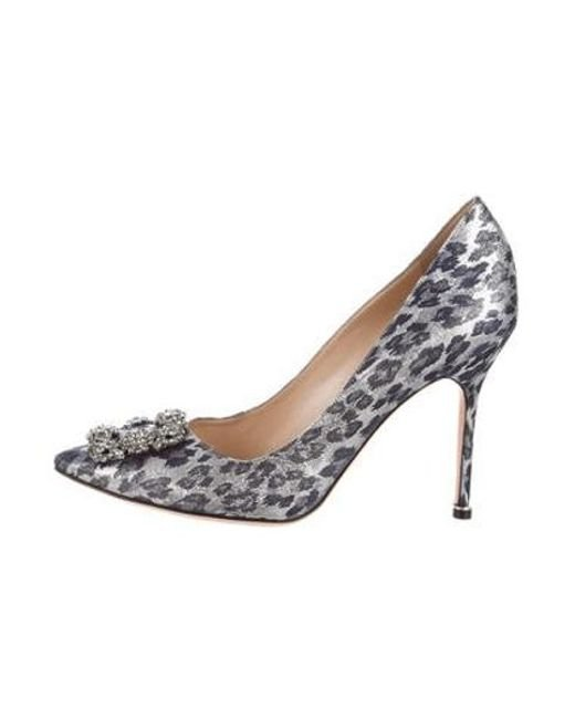e77529d55eb8 Manolo Blahnik - Blue Hangisi Embellished Pumps W  Tags - Lyst ...