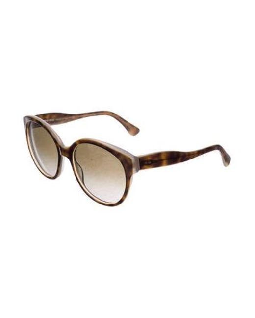 12c384ea8e6 ... Miu Miu - Brown Miu Round Oversize Sunglasses - Lyst ...