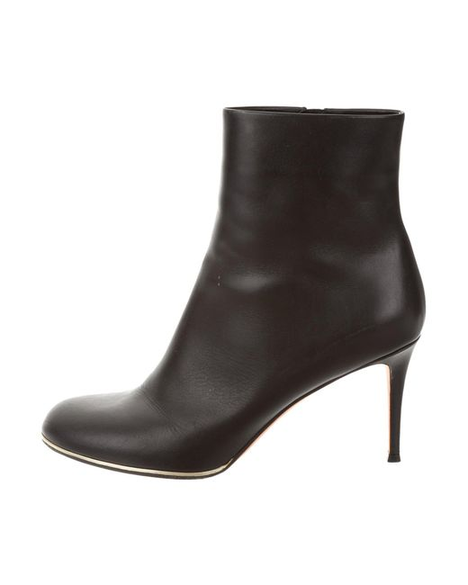 Givenchy - Metallic Leather Ankle Boots Black - Lyst