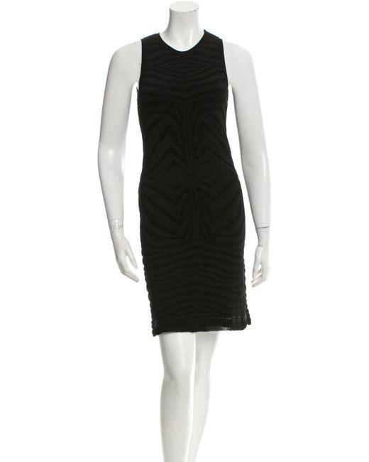 Roberto Cavalli - Black Zebra Intarsia Dress - Lyst