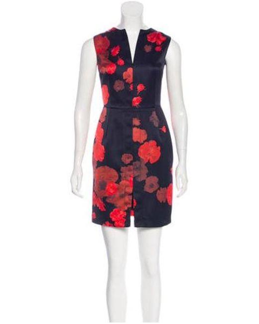 7017e4a221 Giambattista Valli - Blue Floral Print Mini Dress - Lyst ...