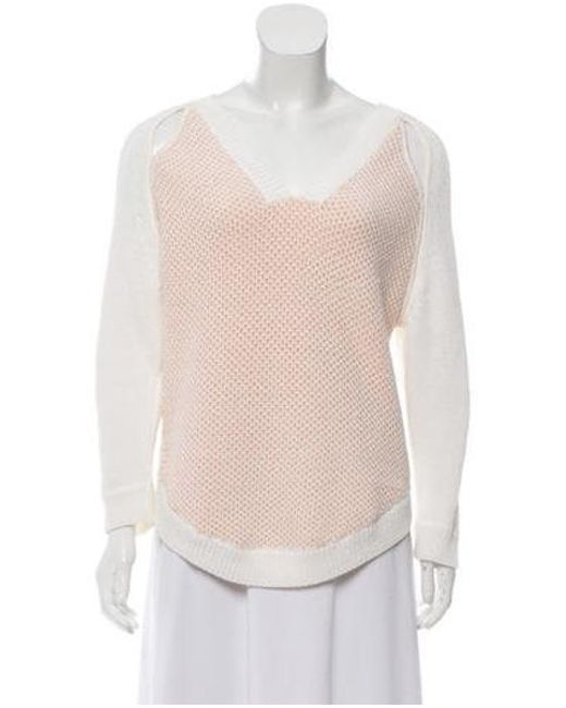 3.1 Phillip Lim - Pink Cut-out V-neck Sweater - Lyst