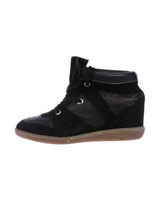 279532eaeda8 Isabel Marant - Black Bobby Wedge Sneakers - Lyst ...