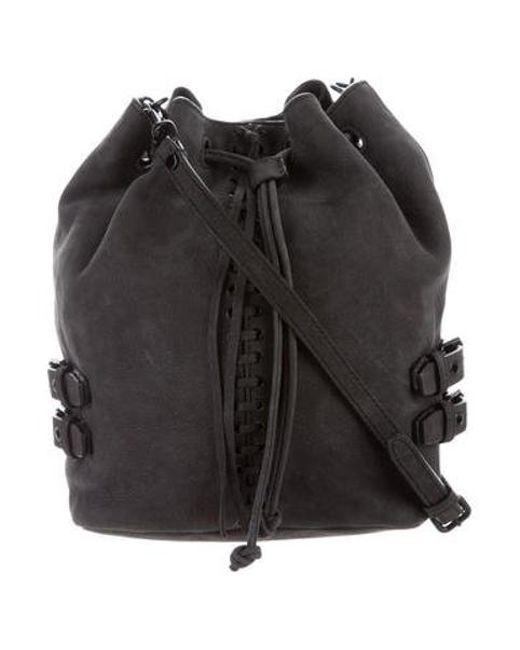 Rebecca Minkoff Black Suede Crossbody Bag Lyst