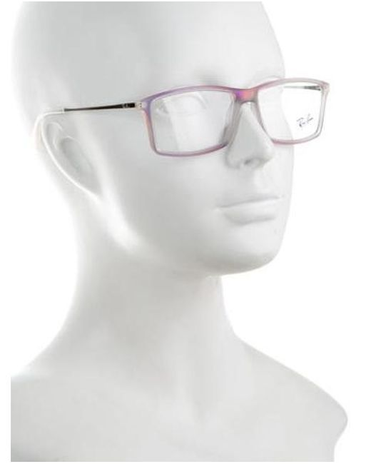 lyst ray ban iridescent square eyeglasses in purple Coach Eyeglasses ray ban purple iridescent square eyeglasses lyst