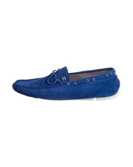 b2f70ab27cb Just Cavalli - Blue Suede Round-toe Loafers W  Tags for Men - Lyst ...