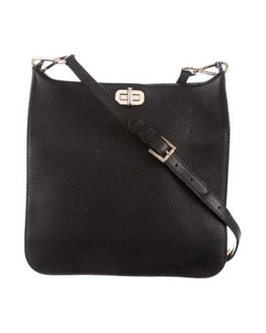 a0daca373d46 MICHAEL Michael Kors - Metallic Michael Kors Messenger Bag Black - Lyst ...