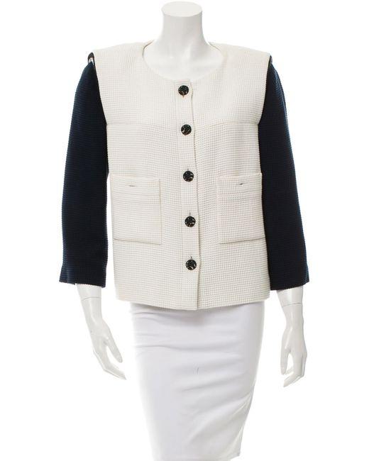 Chanel - Blue Colorblock Tweed Jacket - Lyst