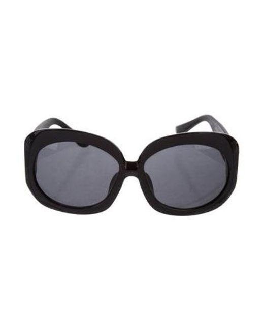 The Row - Metallic Tinted Oversize Sunglasses Black - Lyst
