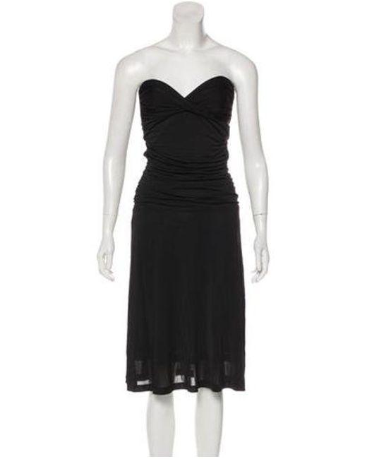 Lyst Zimmermann Strapless Knee Length Dress In Black