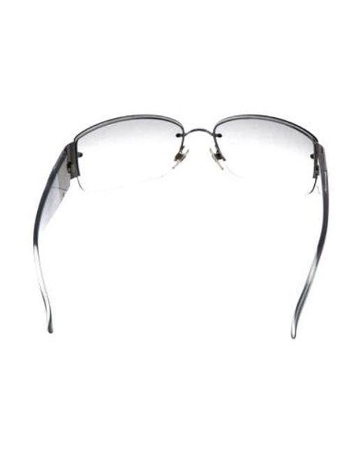 d147d9a69126 ... Chanel - Blue Strass Cc Sunglasses - Lyst ...