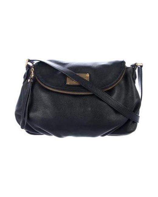 d4d0f55fcf39 Marc Jacobs - Metallic By Leather Natasha Crossbody Bag Black - Lyst ...