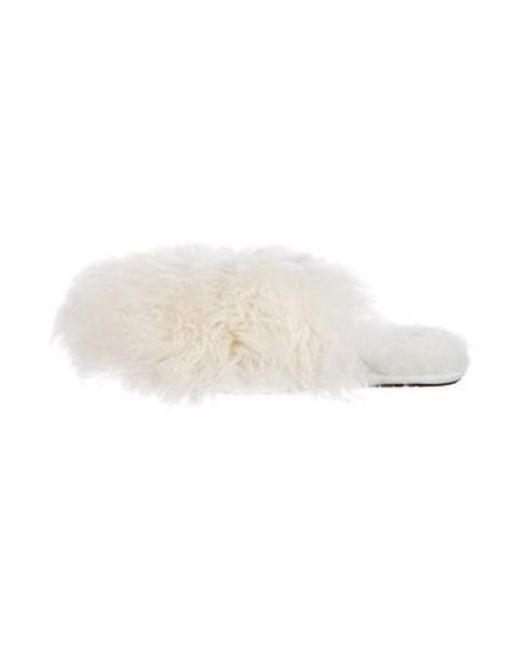 4eb2c7e4b Ugg - White Shearling Slip-on Slippers - Lyst ...