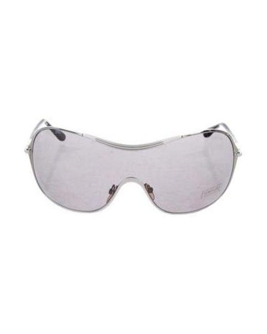 54741a5a27f Tom Ford - Metallic Round Aviator Sunglasses Silver - Lyst ...