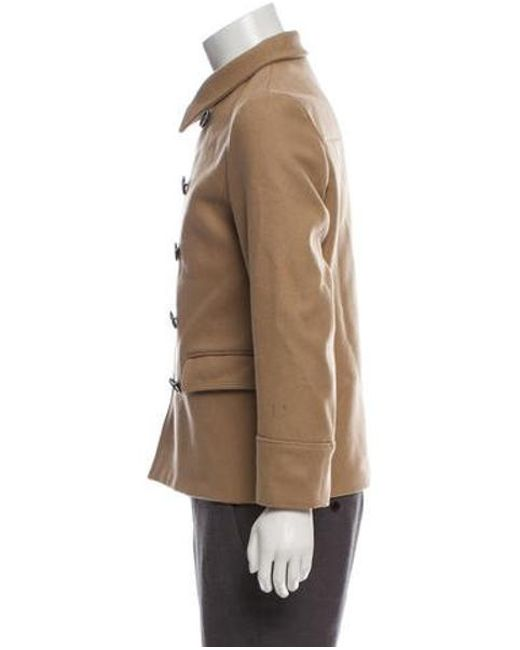 45bdb9df2cfd ... Dior Homme - Natural Wool Double-breasted Coat Tan for Men - Lyst ...