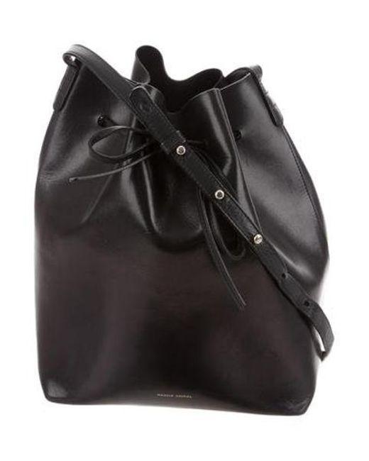 579132302300 ... newest 1cc18 bf623 Mansur Gavriel - Metallic Leather Bucket Bag Black -  Lyst .. ...