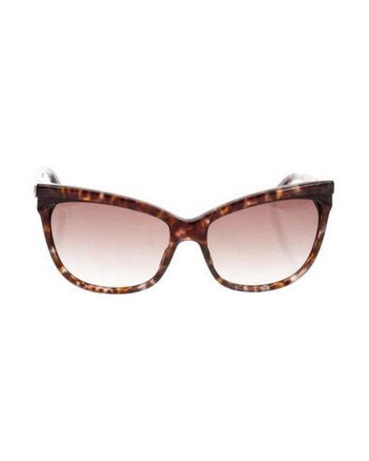 fe16b6422d6f Dior - Metallic Tortoiseshell Cat-eye Sunglasses Brown - Lyst ...