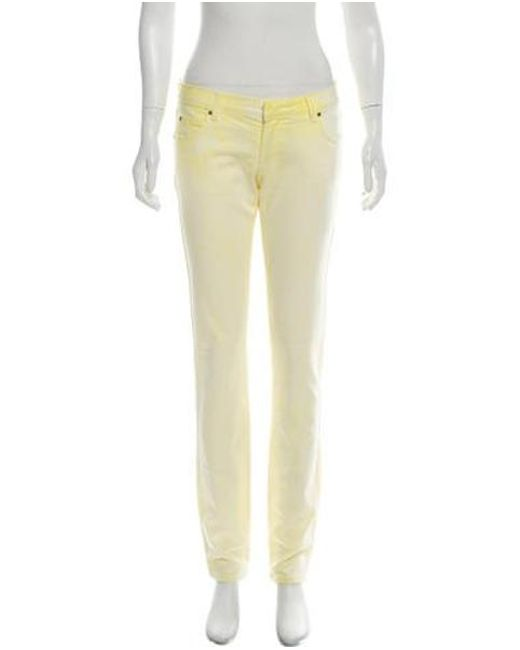 ad9af8c2 Balmain - Yellow Mid-rise Skinny Jeans - Lyst ...