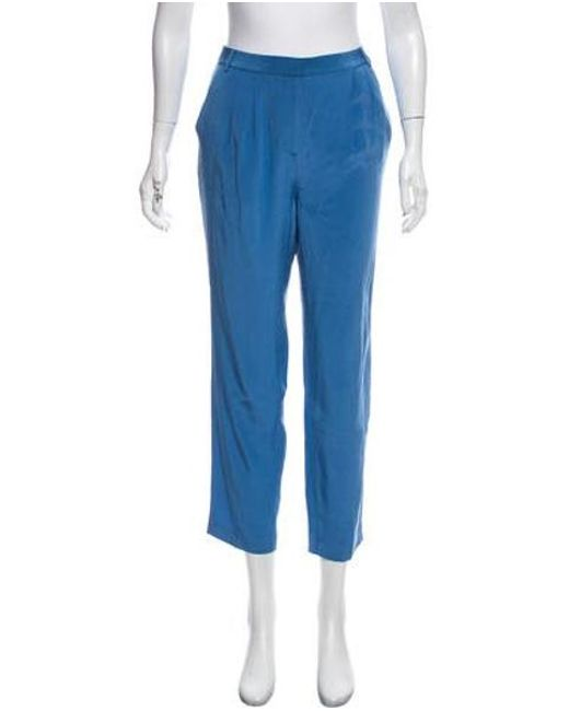 Tibi - Blue Mid-rise Tailored Pants - Lyst