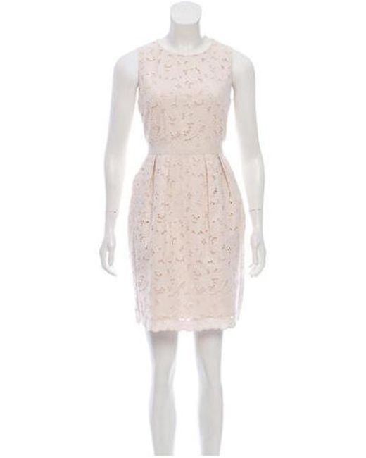 Stella McCartney - White Knee-length Eyelet Dress - Lyst