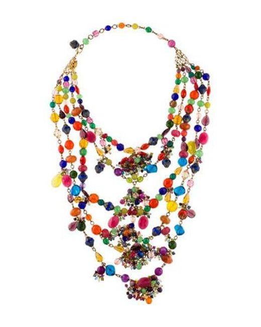 Erickson Beamon - Metallic Crystal Multistrand Necklace Gold - Lyst