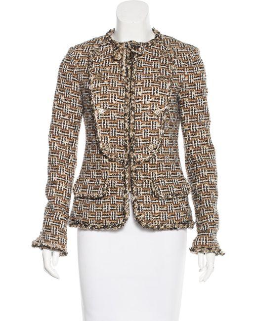 Chanel | Metallic Paris-dallas Fantasy Tweed Jacket Tan | Lyst
