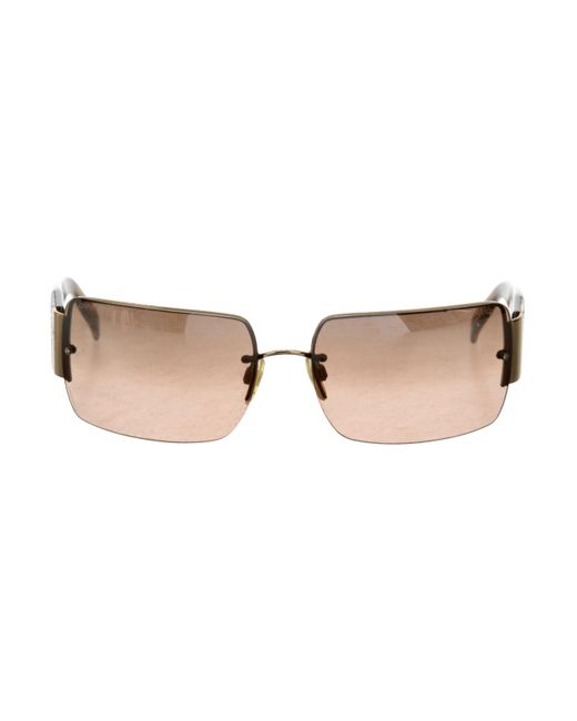 Chanel | Brown Strass Cc Sunglasses | Lyst