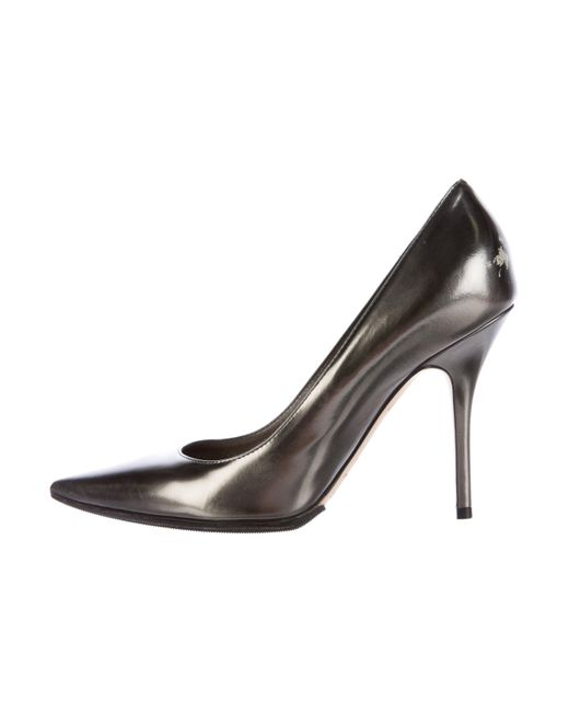 Dior | Gray Metallic Pointed-toe Pumps Pewter | Lyst