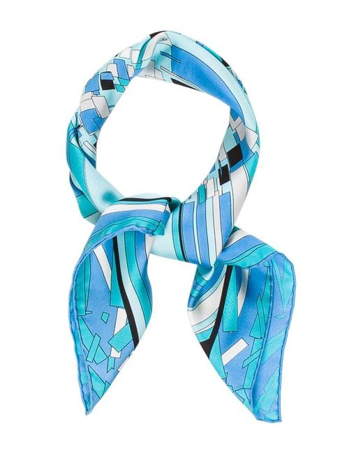 Emilio Pucci | Blue Woven Abstract Scarf | Lyst