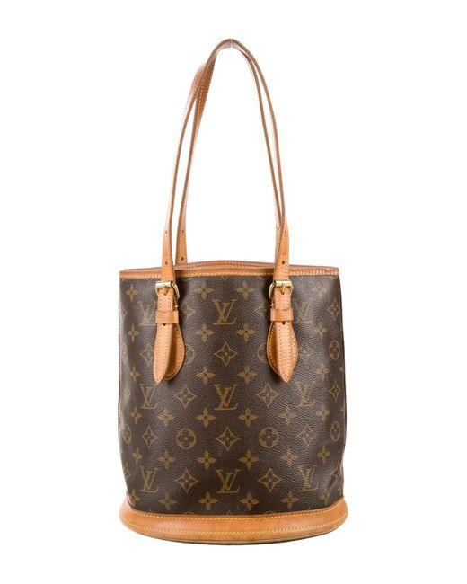 Louis Vuitton   Natural Monogram Bucket Pm Brown   Lyst