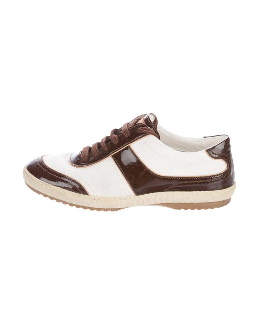 Louis Vuitton | White Canvas Low-top Sneakers | Lyst