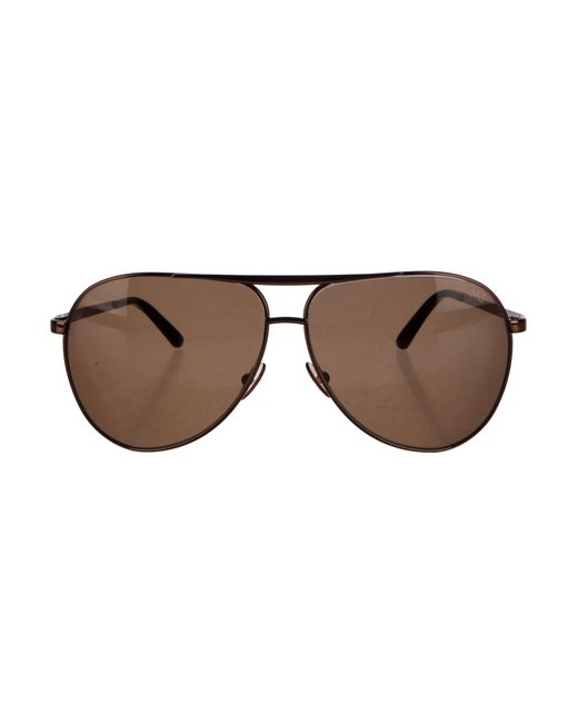 Marc Jacobs | Brown Tinted Aviator Sunglasses for Men | Lyst
